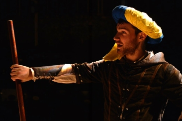 Robin Hood's jacket made by Sophea Bailey. Costume Designer: Becky Evans. Photo's courtesy of Southwark Playhouse